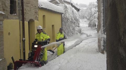 volontari neve