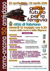 Manifesto convegno ferrovia Roma-Ancona