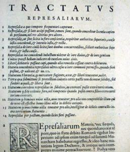 il Tractatus represaliarum di Bartolo da Sassoferrato