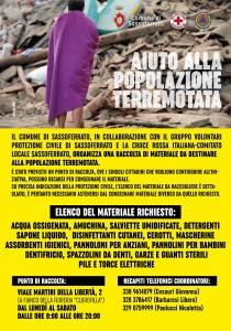 Aiuti terremotati - Sassoferrato