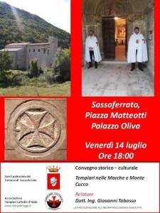 Manifesto Sassoferrato 14 luglio ore 18