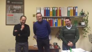 Sindaco di Cantiano Alessandro Pincini, Sindaco di Frontone Francesco Passetti; Sindaco di SSAbbondio Ludovico Caverni