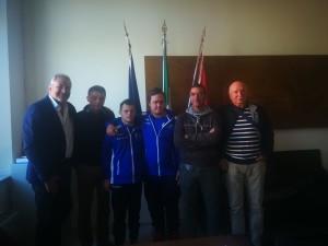 L'assessore Scalone con Luca Mancioli e Daniel Gerini
