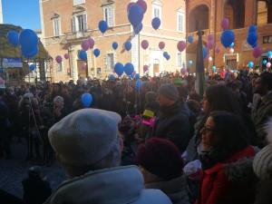 Protesta del comprensorio di Fabriano a difesa del punto nascita il 9 febbraio 2019