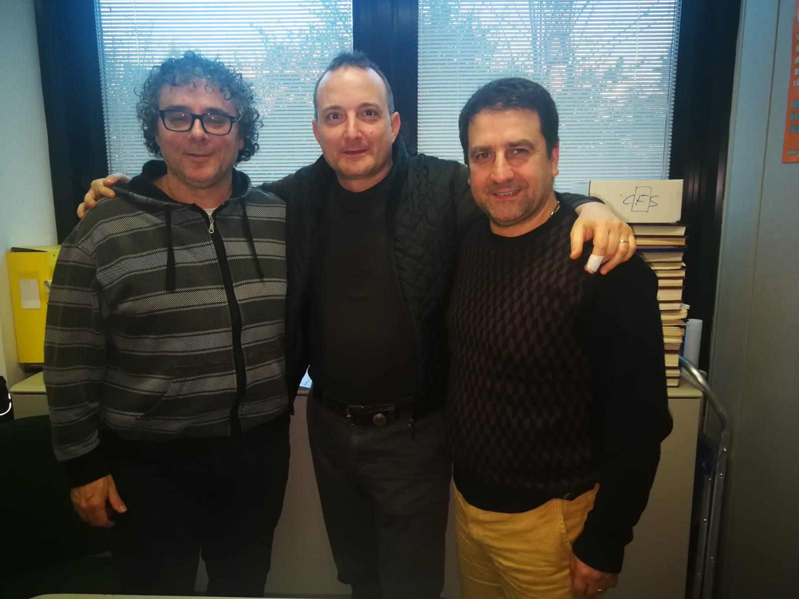 I componenti Rsu- Fp Cgil dell'area vasta 2 Giacomo Mancinelli (lavora all'ospedale di Jesi), Salvatore Viscio (al 118 e Rsa di Filottrano) e Valentino Tesei (uffici amministrativi di Fabriano).