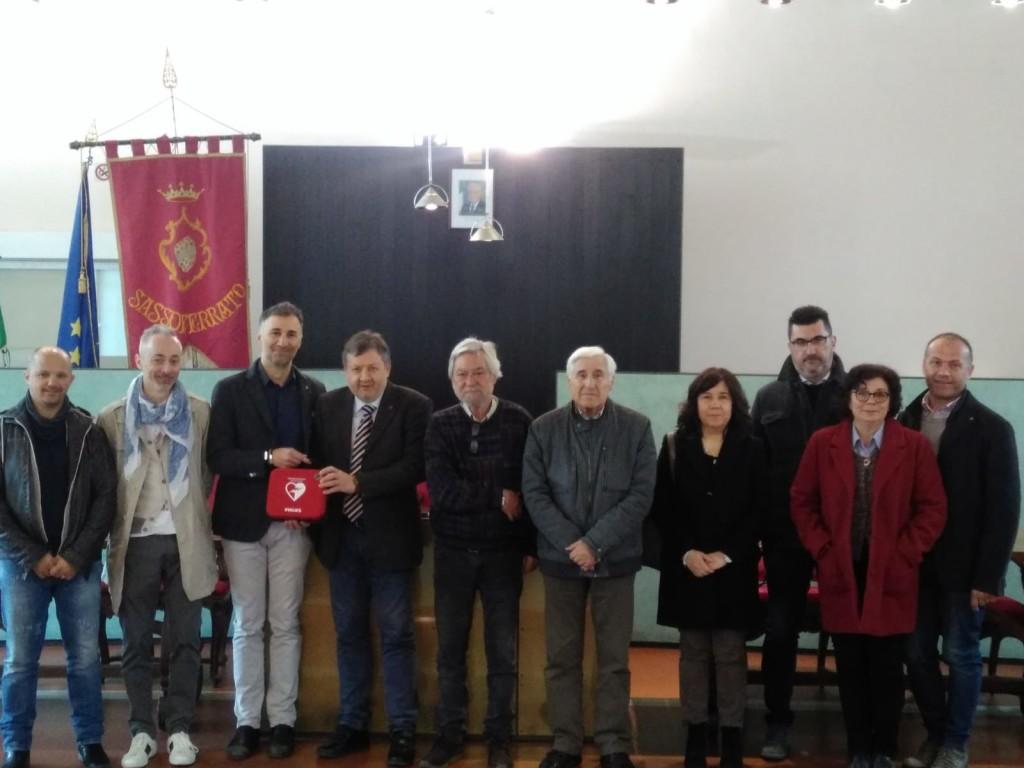 CERIMONIA DI CONSEGNA DEL DEFIBRILLATORE DONATO DAL ROTARY CLUB ALTAVALLESINA GROTTEFRASASSI