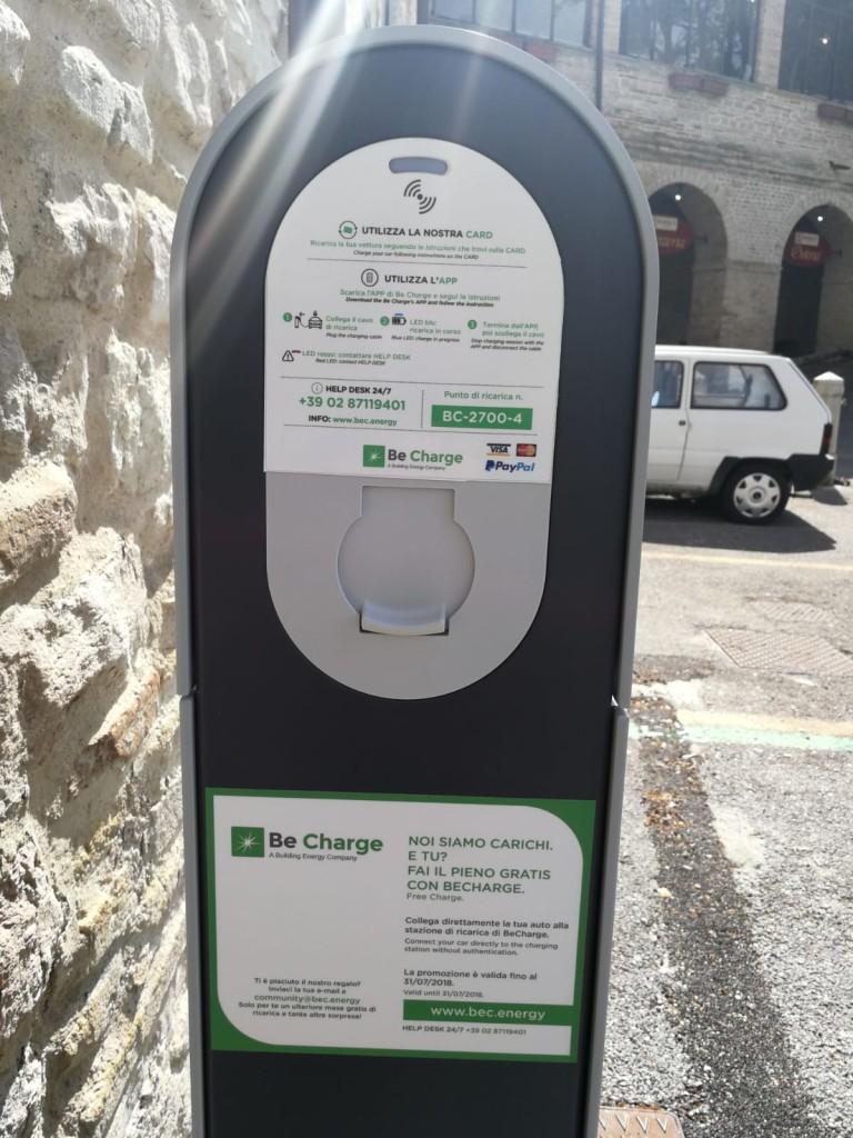 Colonnine di ricarica elettriche Be Charge Sassoferrato (AN)